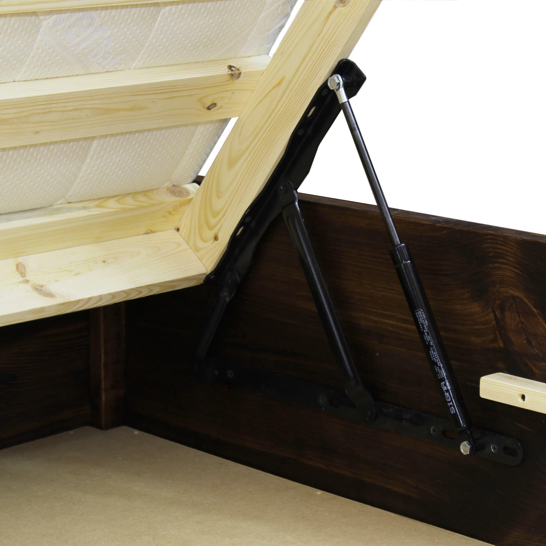 łóżko drewniane otwierane