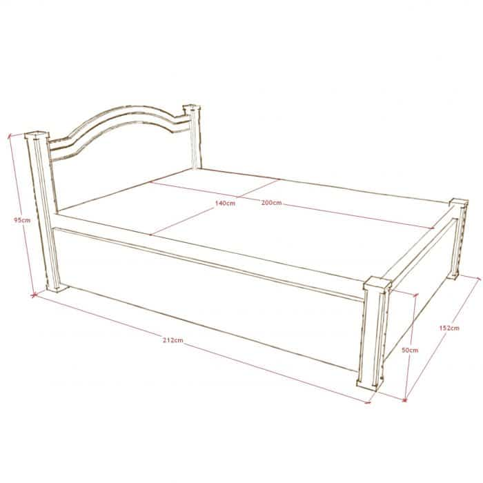 łóże drewniane z pojemnikiem