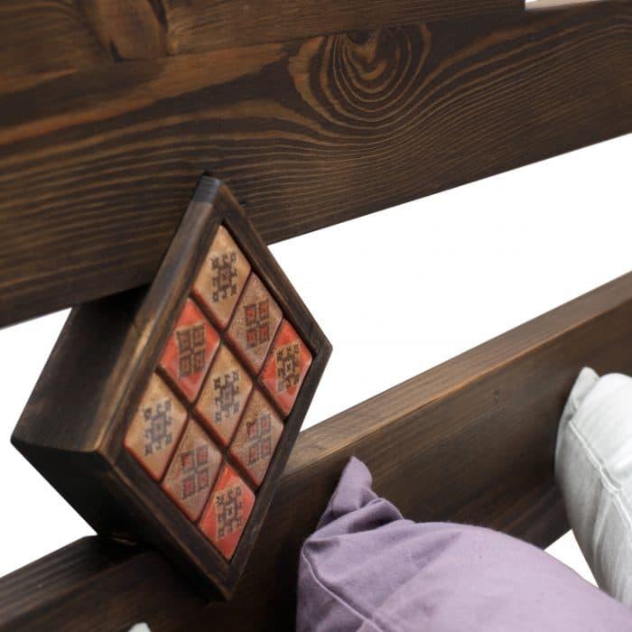 łóżko drewniane z pojemnikim 140x200