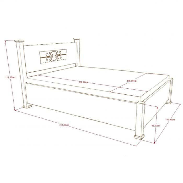 łóżko drewniane podwójne białe
