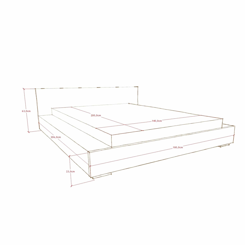 projekt łóżka drewnianego