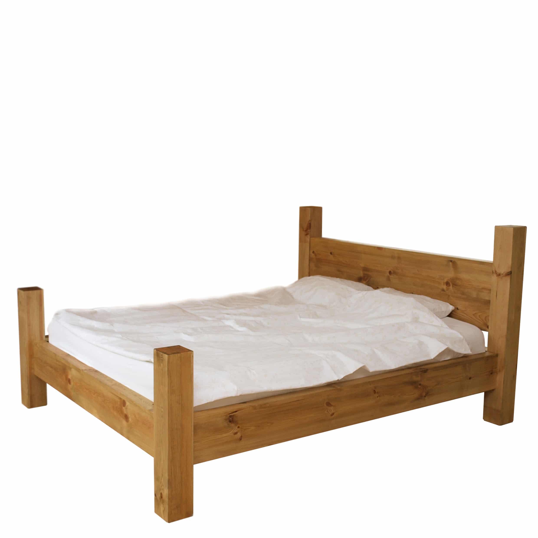 łóżko do sypialni z drewna litego