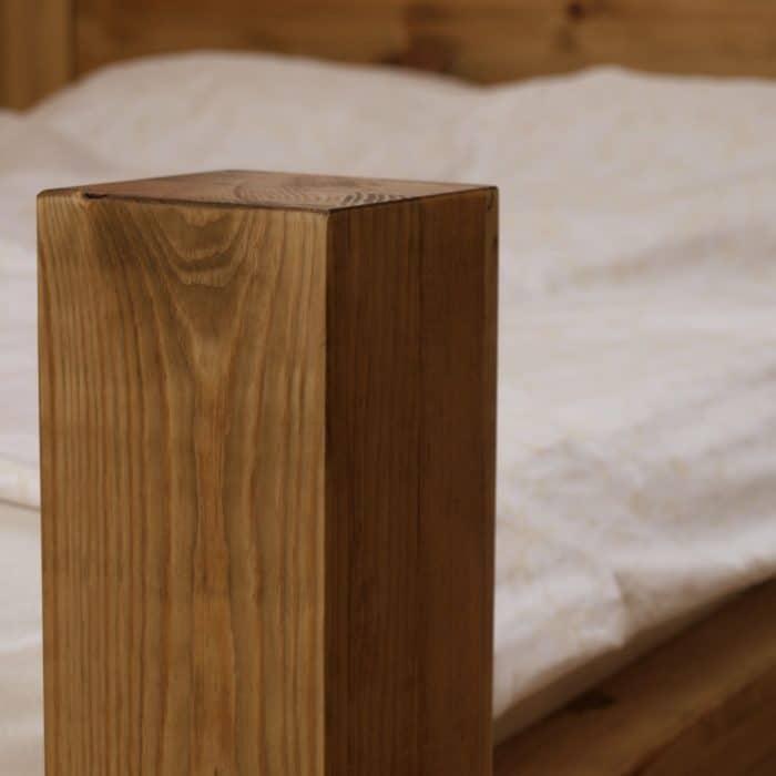 łóżko dębowe dwuosobowe