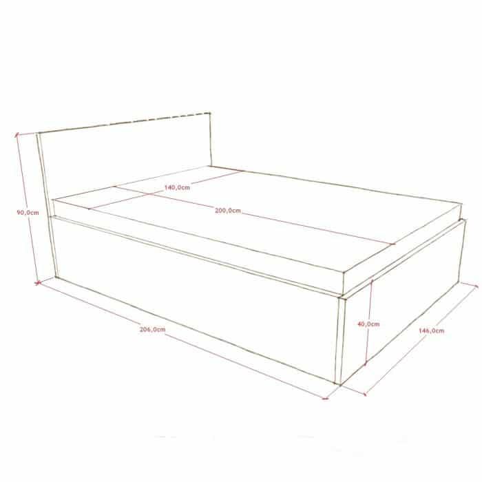 drewniane łóżko z pojemnikiem warszawa
