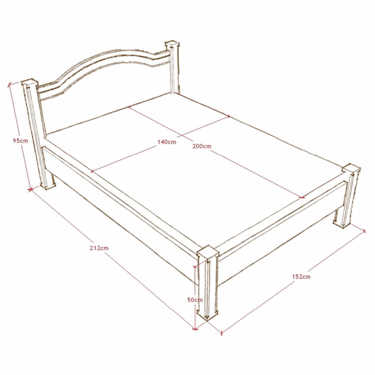 łóżko drewniane rustykalne warszawa
